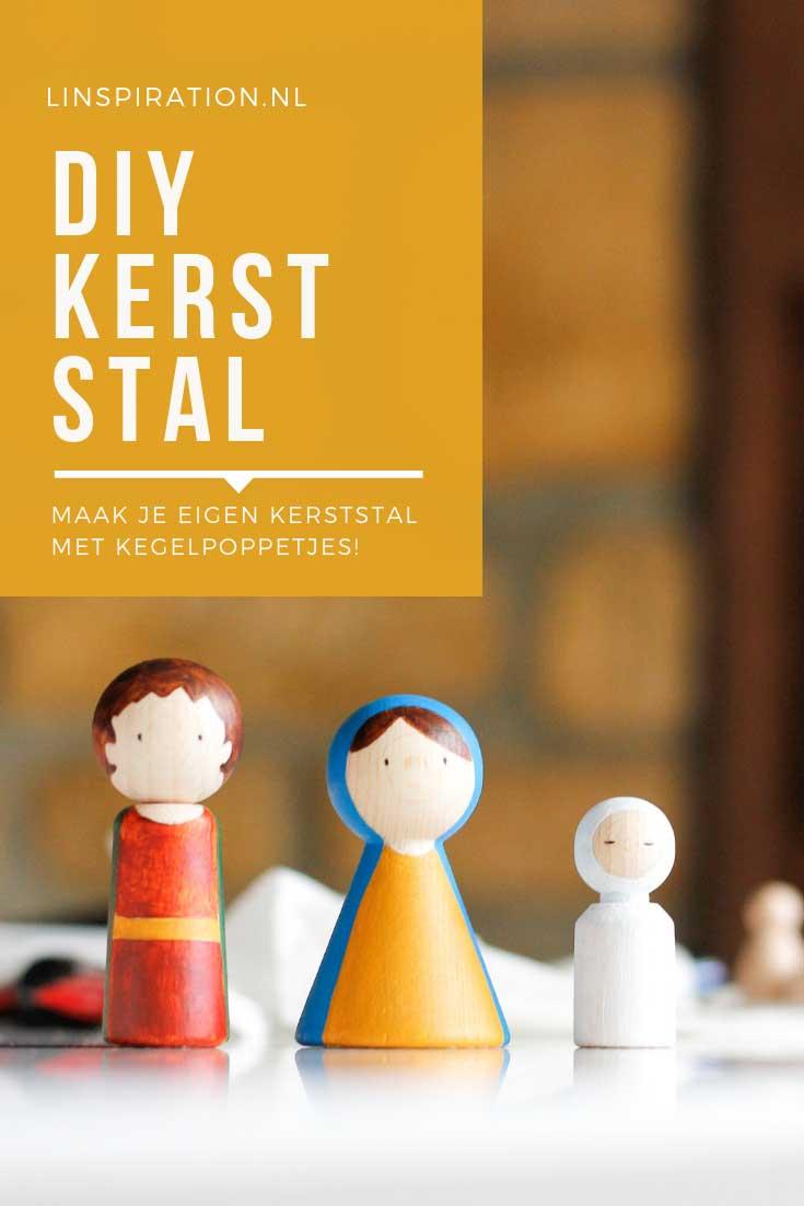 DIY Kerststal kegelpoppetjes | Linspiration.nl