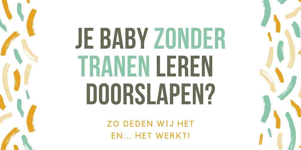 Header je baby leren doorslpaen zonder tranen. Linspiration.nl