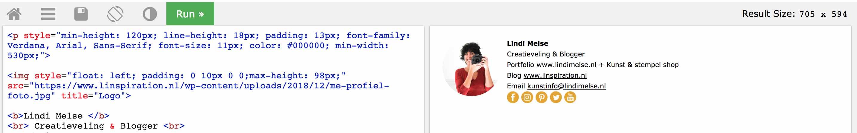 email handtekening html