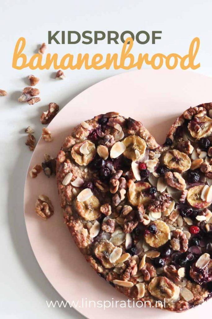 Gemakkelijk en snel bananenbrood recept. In 45 min klaar. Kidsproof & gezond!