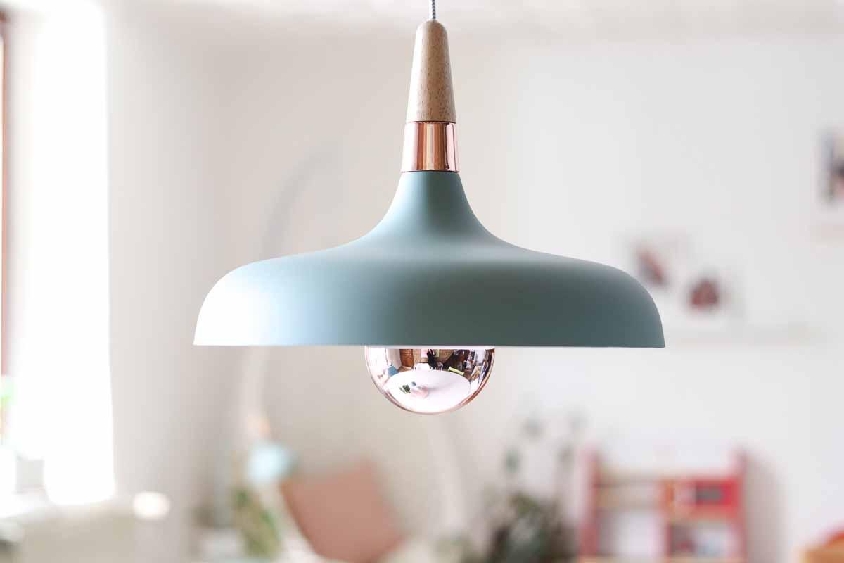 Scandinavische lamp woonkamer mint