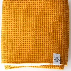 Oker geel baby dekentje zelf naaien