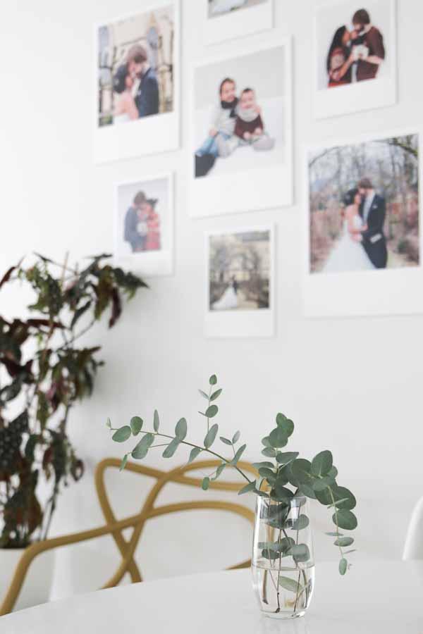 Maak je eigen gallery wall met polaroid foto's