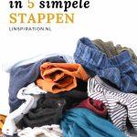 Kleding wegdoen in 5 simpele stappen