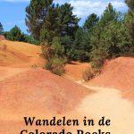 wandelen in de colorado rocks in Frankrijk