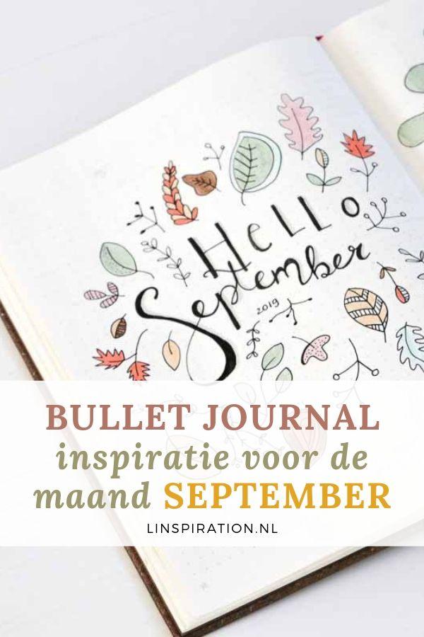 Inspiratie voor jouw bullet journal van september