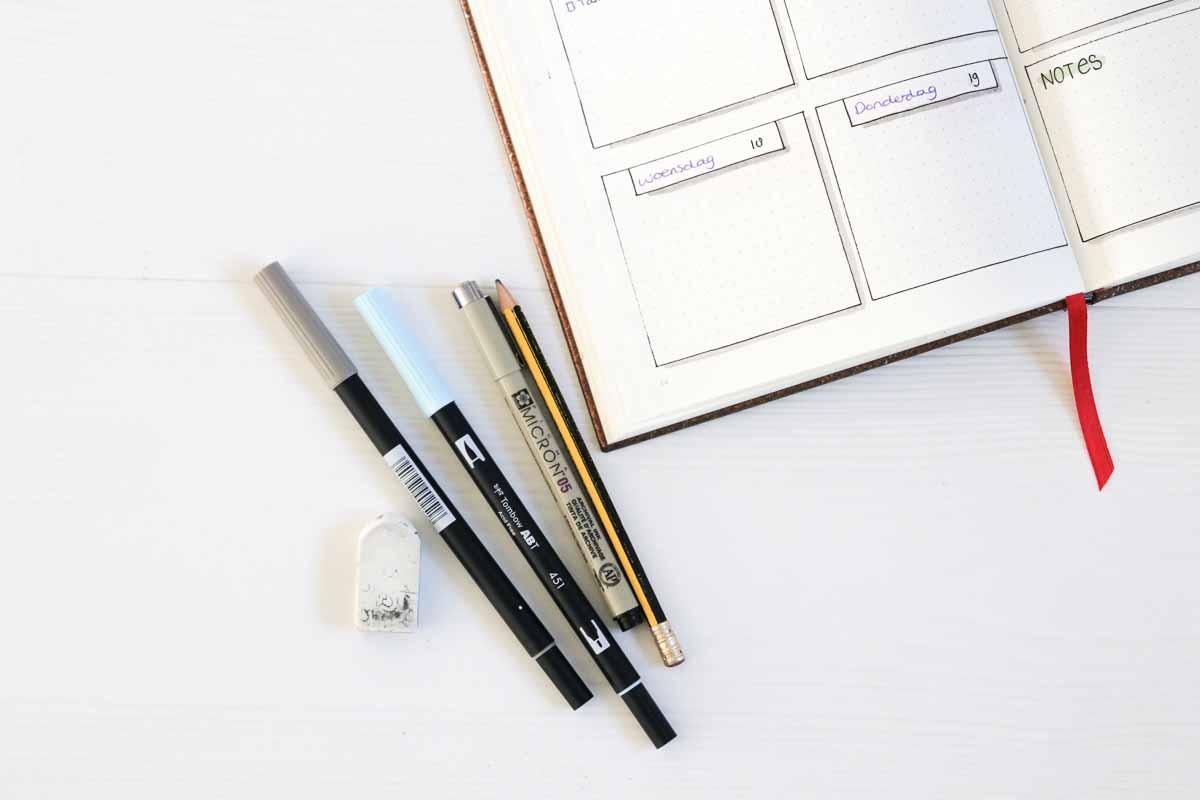 Wat je nodig hebt om te beginnen met een bullet journal