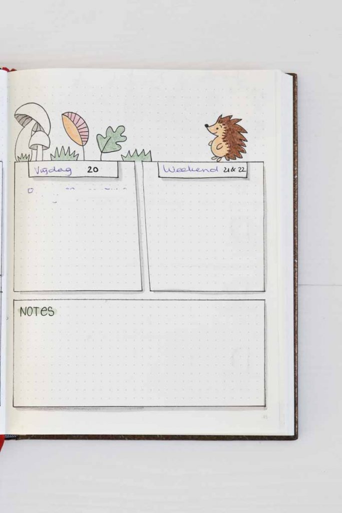 Weekoverzicht september inspiratie voor je bullet journal