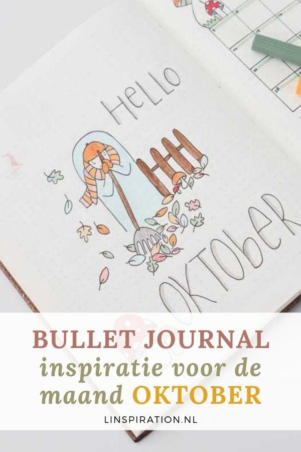Bullet journal spread inspiratie voor de maand oktober