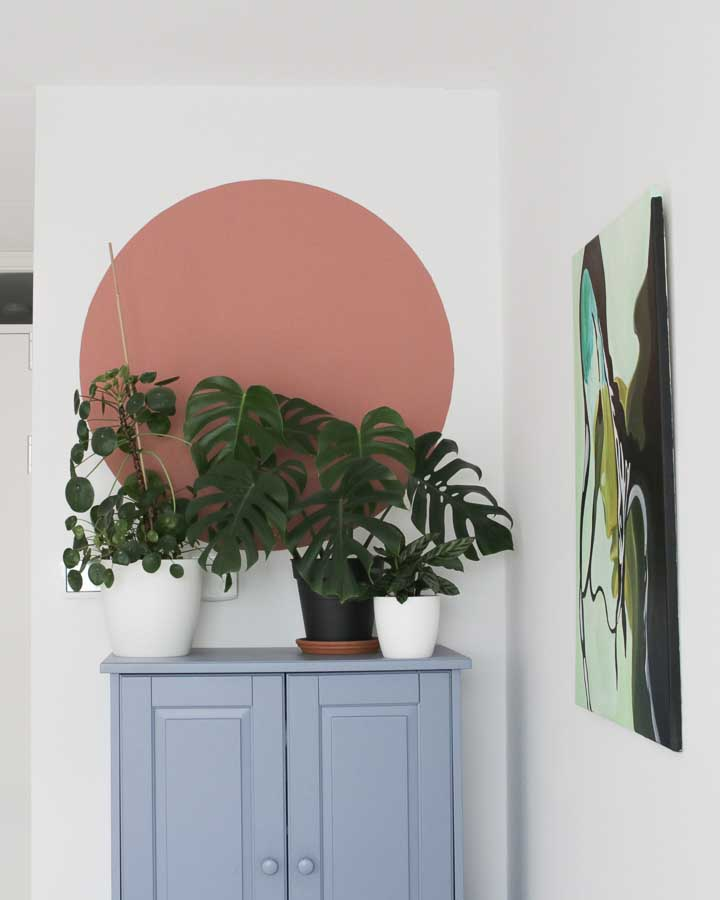 Een cirkel in de woonkamer schilderen