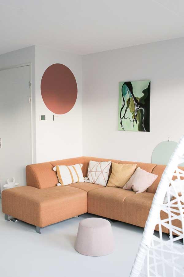 DIY schilder je eigen cirkel op de muur