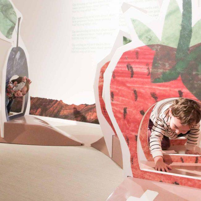 De wereld van Rupsje nooitgenoeg ontdekken in het kinderboekenmuseum
