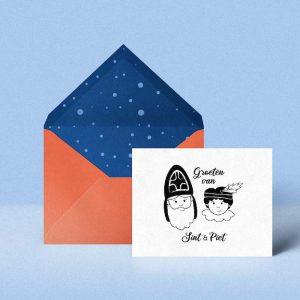Sint en Piet stempel kaart