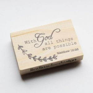 With god all things are possible stempel bullet journal