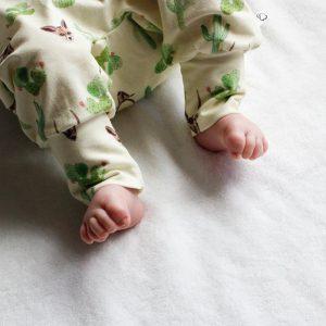 Woestijn vosje babykleding handgemaakt biologisch katoen FS Happiness