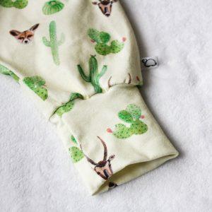 Woestijn vosje detail babykleding handgemaakt biologisch katoen FS Happiness