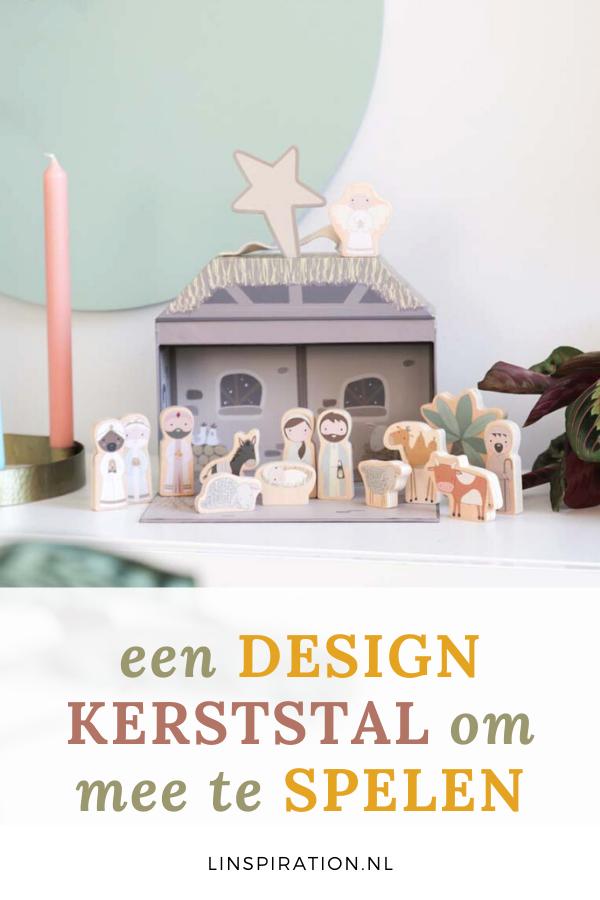 Een design kerststal om mee te spelen