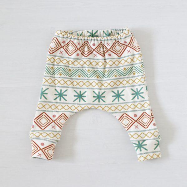 Egypt print op biologische handgemaakte babykleding FS Happiness