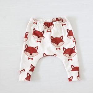 Vossen print op biologische handgemaakte babykleding FS Happiness