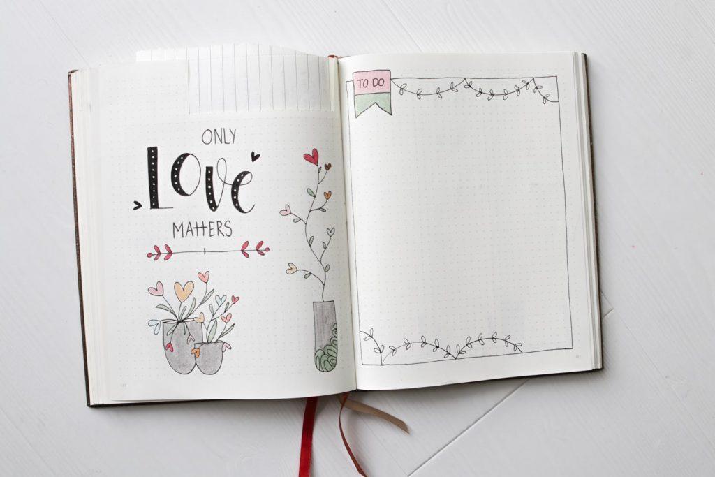 Tekenen in bullet journal