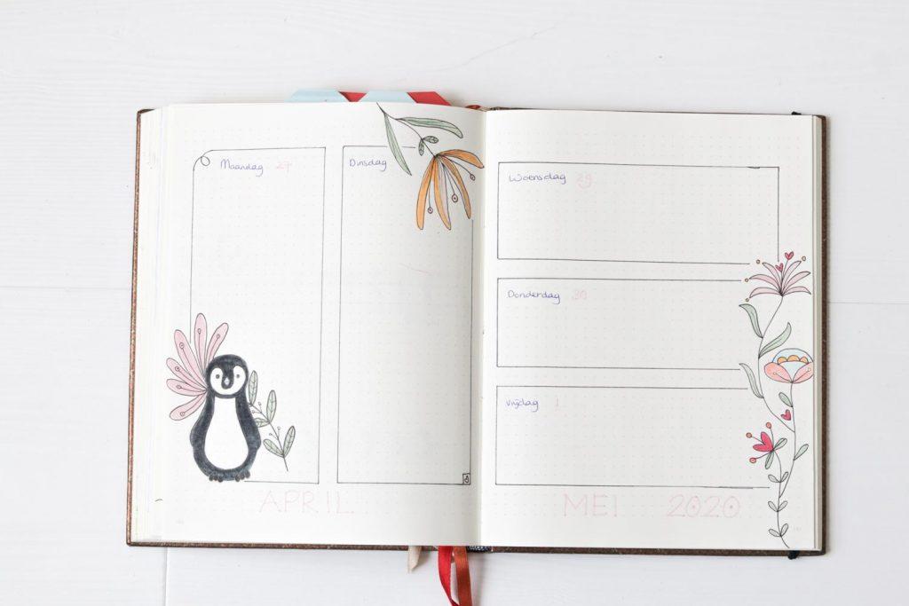 Bullet journal met dieren thema