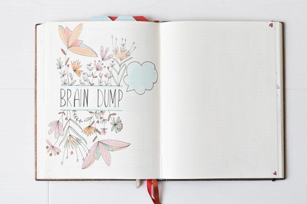 Brain dump pagina bullet journal