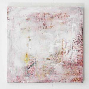Abstract schilderij roze door Lindi Melse