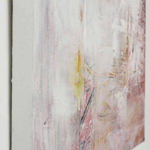 detail Abstract schilderij roze door Lindi Melse