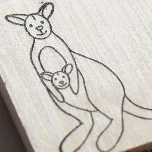 Kangaroo stempel
