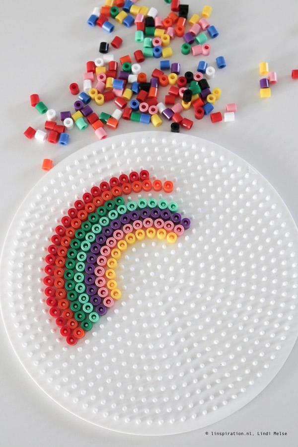 regenbogen van strijkkralen