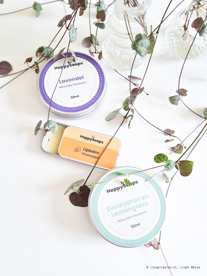 natuurlijke deodorant en lipbalm voor in je toilettas
