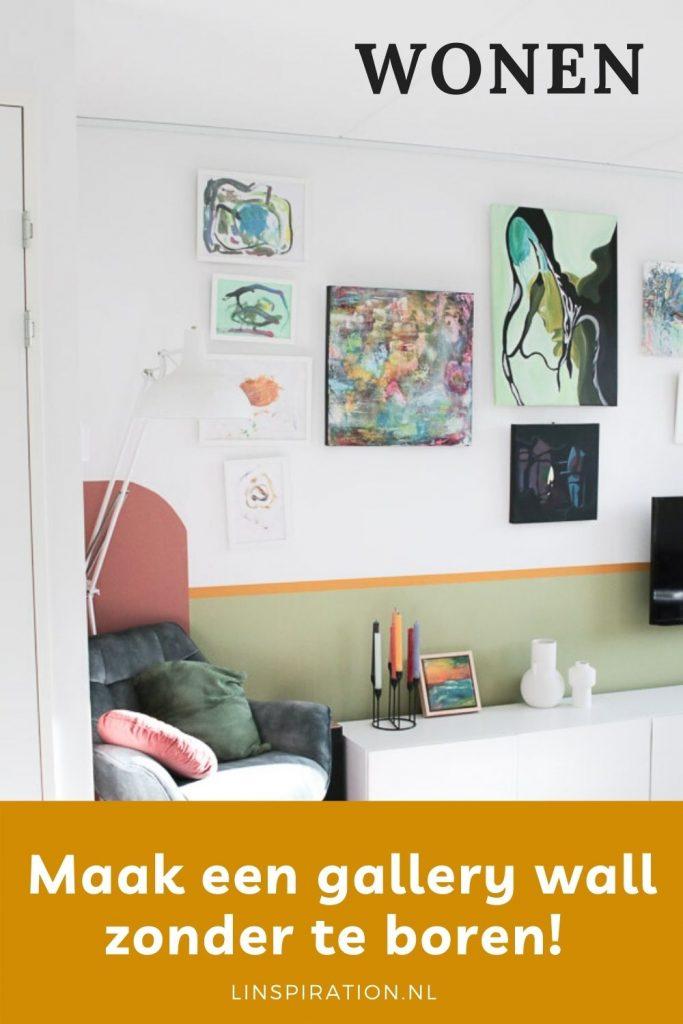 Een schilderij of fotolijst ophangen zonder boren