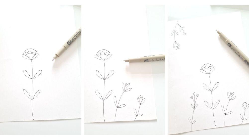 bloemenkaart zelf maken