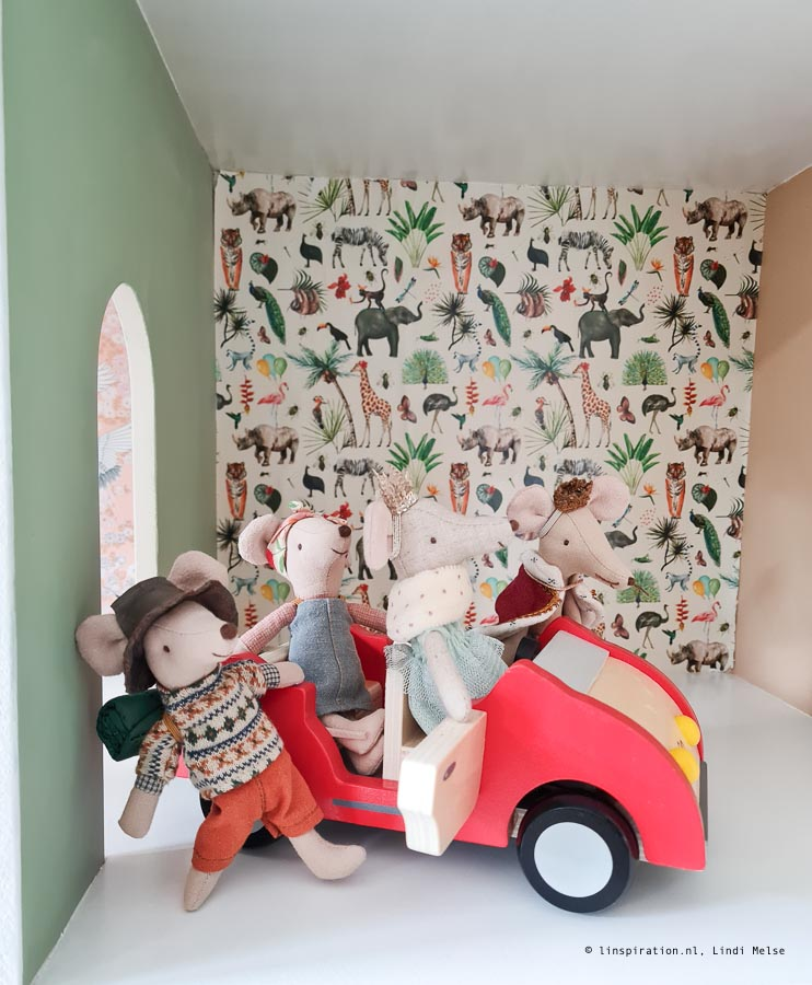 familie auto Maileg muizen poppenhuis