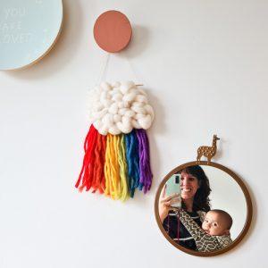 wandhanger regenboog babykamer linspiration